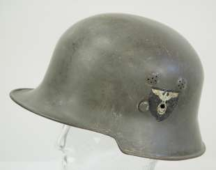 WHEEL: steel helmet.