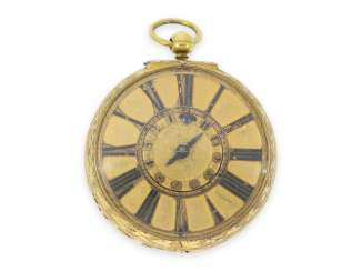 Pocket watch: extremely rare, large early London Halsuhr with Alarm, Henry Godfrey, London, CA. 1685