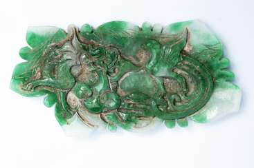 Chinese Jade carving with dragon and Phoenix