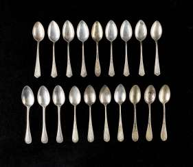 NINE OF TEN ART NOUVEAU SPOON