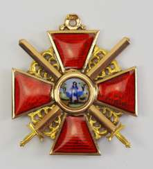 Russia: order of St. Anna, 2. Model (1810-1917), 3. Class with swords.