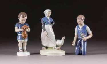 THREE CHILDREN'S FIGURES
