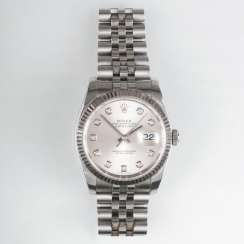Men's wrist watch with diamonds 'Oyster Perpetual Date Just'