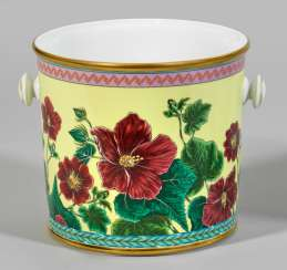 "Cachepot with ""Tropical Wonderland"" decor"