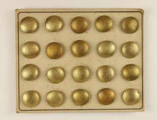 20 gold-plated buttons