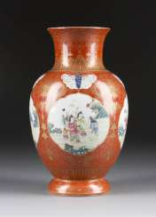 VASE WITH FIGURAL DECOR