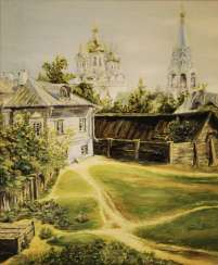 "Based on ""Moscow Courtyard"" by V. Polenov"