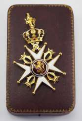 Norway: Order of St. Olav, 2nd model (1907-1937), Commander's Cross, in a case.