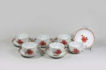 6 coffee/tea cups with the bottom, Herend