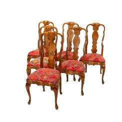 A ROW OF SIX CHAIRS IN THE BAROQUE STYLE