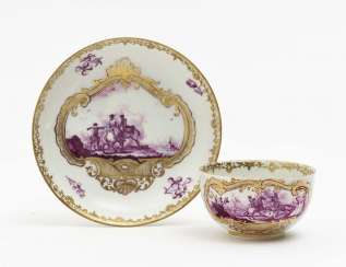 Cup and saucer Meissen, mid-18th century