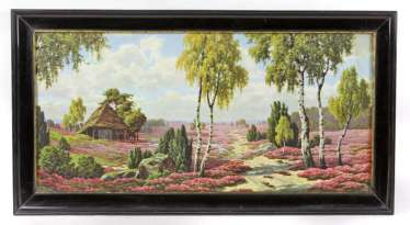 Shellac frame with landscape