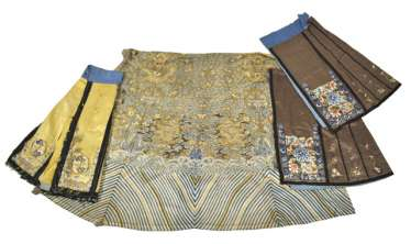 Three Skirts And Textile With