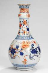 Small bottle vase decorated in the Imari style