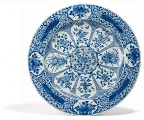 Large plate with flowers of the four seasons