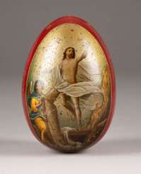 BIG EGG WITH THE RESURRECTION OF CHRIST AND THE MOSCOW KREMLIN Russia