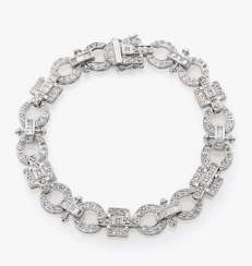 Fancy link bracelet with brilliants and diamonds