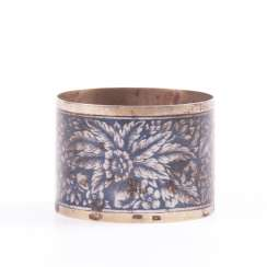 Russian silver napkin ring with niello