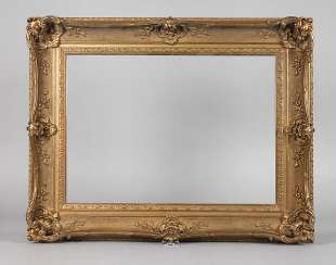 Gold stucco frame around 1900
