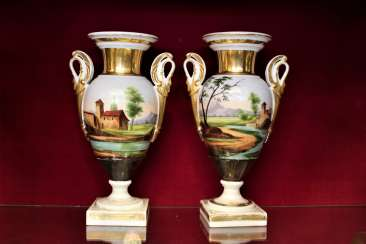 Vases pair of XIX century