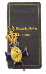 Bavaria: order of merit of the hl. Michael, 3. Class, in a case.