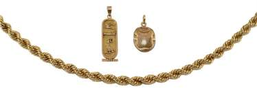 Gold jewelry scarab,