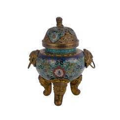 Cloisonné Incense Burner. CHINA, 19. Century.