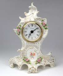 Porcelain Table Clock Baroque Form