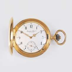 Cased watch with small second