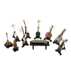 Model set of ten miniature instruments. CHINA, 20. Century.