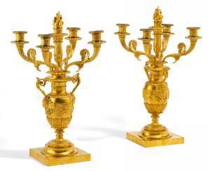 Pair of magnificent candelabra of Charles X