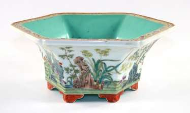 China octagonal planter bowl