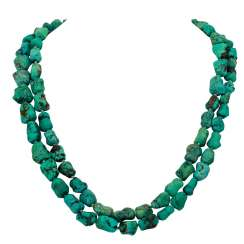 Necklace 2 rows of Turquoise