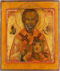 ICON WITH SAINT NICHOLAS OF MYRA Russia