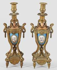 Pair of Napoleon III candlesticks