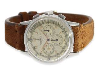 Watch: very rare and large stainless steel Chronograph from Movado, reference 19036, CA. 1955