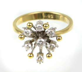 Brillant Ring - Gelbgold/WG 585