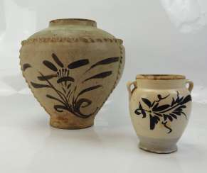 China: Shi-tu style ginger pot and Cizhou style jug.