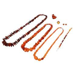 Mixed lot of amber jewelry 7-piece,
