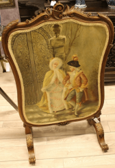 Fire screen 19th century.