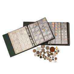 A mixed collection of coins and medals, in 2 albums - among other things