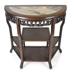 Half Round Etagere Table With