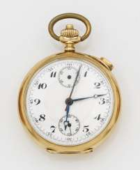 Gold pocket watch with repeater
