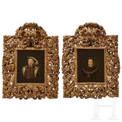 A pair of portraits, Heinrich VIII. And Edward VI., After Hans Holbein, 17./18. century