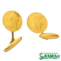 Cufflinks are made from English coins 1889