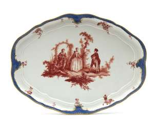 Meissen oval tray, point time