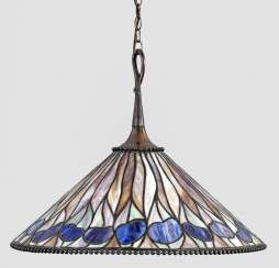Art Nouveau ceiling lamp in Tiffany style