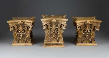 THREE CORINTHIAN CAPITALS