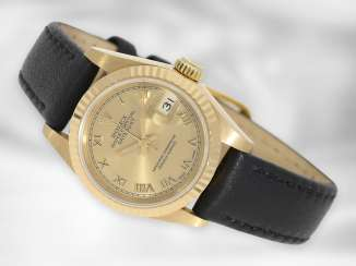 Watch: luxurious Rolex Lady Datejust, Ref. 69178, chronometer, E-series, 18K gold, revision 2019