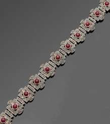 Russian Belle Epoque ruby bracelet
